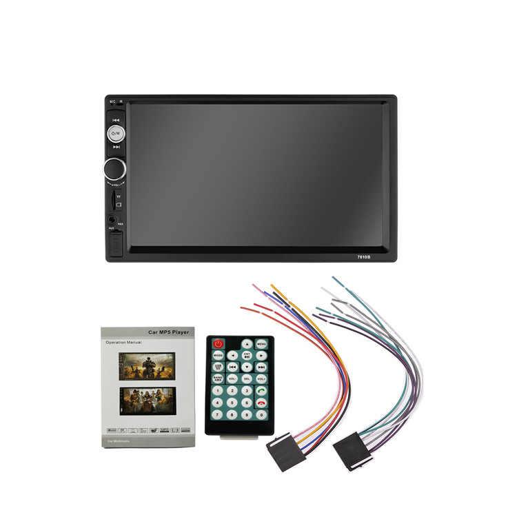 """Autoradio 2 Din 7 """"lecteur multimédia HD 2DIN ecran tactile Auto Audio voiture stéréo MP5 Bluetooth USB TF FM caméra Android"""