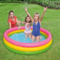 Original Authentic Intex Tri ring Family Swimming Pool Marine Ball Pool Inflatable Bottom