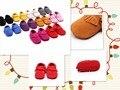 28 colores Nuevos de Gamuza Cuero Genuino Mocasines arco Soft Moccs Bebé Recién Nacido Infant Toddler Bebe Suave Suela antideslizante Zapatos de Prewalker