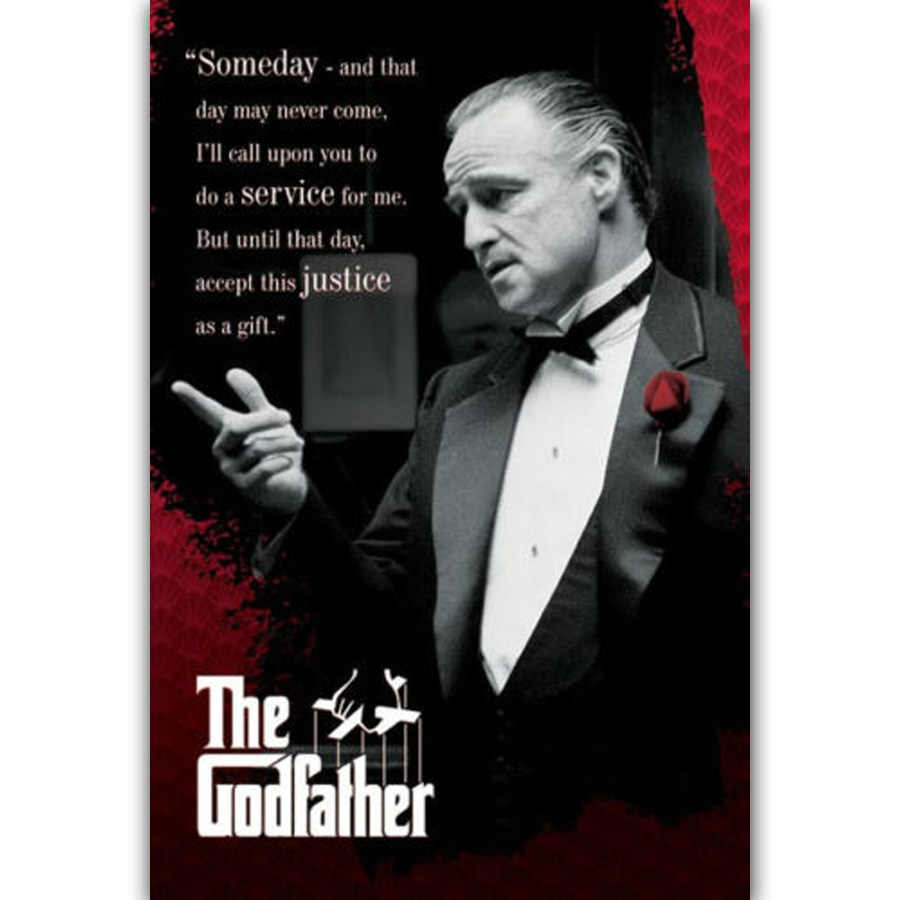 MQ2283 The Godfather Someday Quote Classic Movie Film Hot New Art Poster Top Silk Light Canvas Home Decor Wall Picture Printings