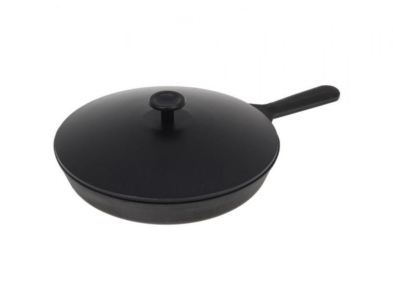 Frying Pan Камская tableware, 24 cm, with cast iron handle with cover frying pan нева metal tableware cast scandinavia grey 26 cm