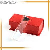 3x3x15 센치메터 삼각형 프리즘 모듈 트리플 광학 유리 과학 물리학 스펙트럼 교육 도구 생일 선물