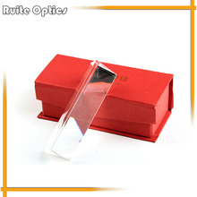 3x3x15cm Triangular  Prism Modules Triple Optical Glass Science Physics Spectrum Educational Tools Birthday Gift