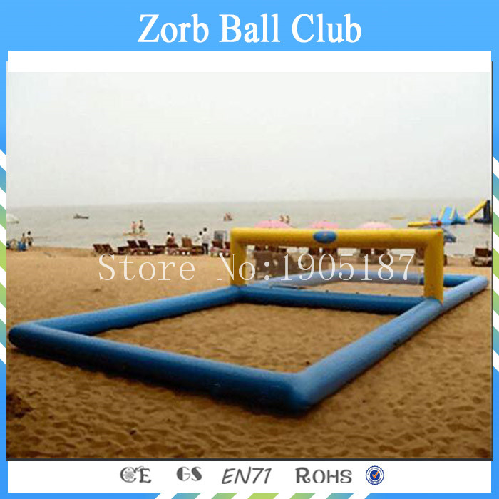 Free Shipping PVC Tarpaulin Material Summer Water Sports Inflatable Water Volleyball Court,Inflatable Water Games Equipment free shipping 12 6 inflatable water sports games inflatable volleyball field inflatable beach volleyball field free a pump