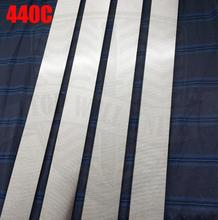 HRC58-60 (тепло) после термообработки 440C из нержавеющей стали стержень бар нож DIY лезвия Больше размер выбрать резак пустым