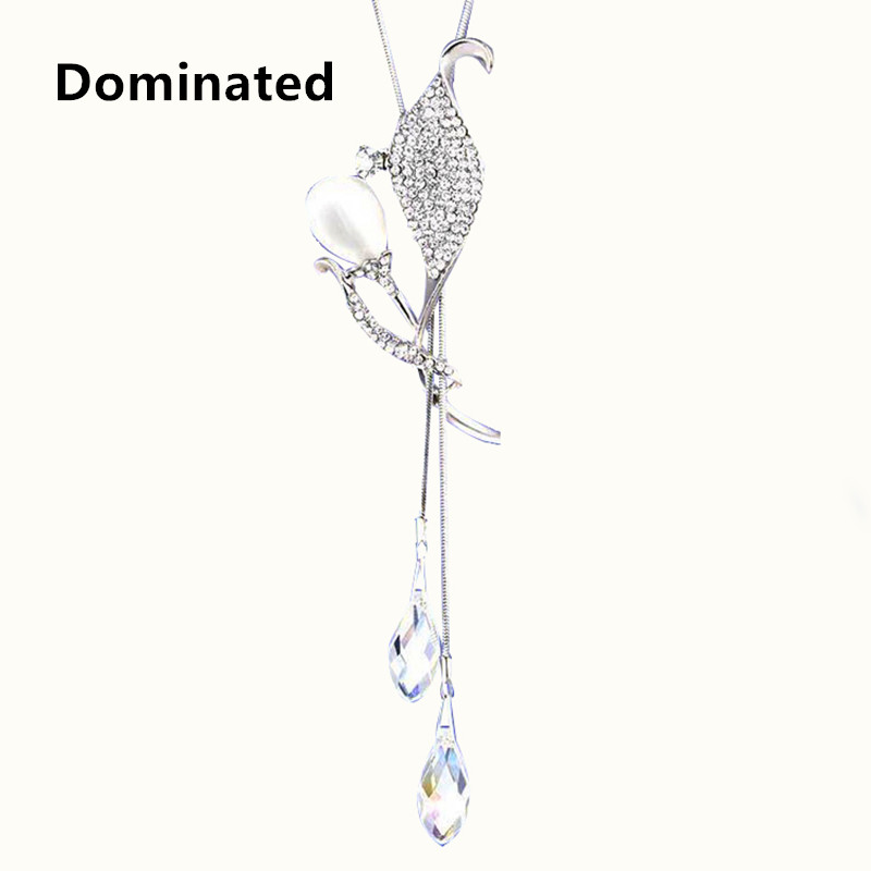 2017 New Arrival Dominated Women A Long Paragraph Sweater Chain, Female Clothing Accessories And Simple Crystal Pendant Pendant ...