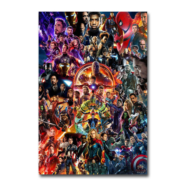Avengers End Game Movie Canvas Poster Wall Art Print