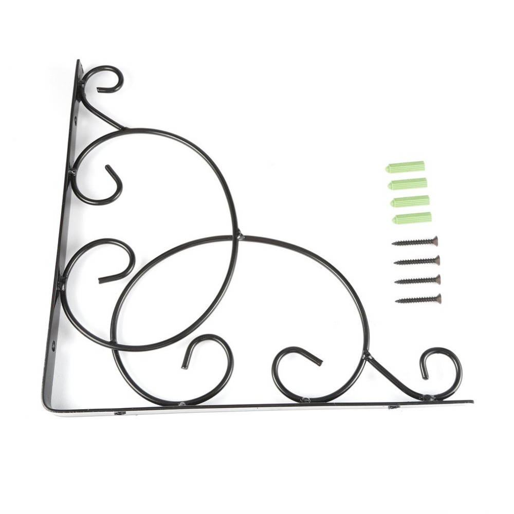 Vintage Style Iron Wall Mounted Floral Shelf Bracket with Screws for Bookrack Clapboard Set up Box Triangle Shape SturdyVintage Style Iron Wall Mounted Floral Shelf Bracket with Screws for Bookrack Clapboard Set up Box Triangle Shape Sturdy