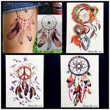 Fashion Dream Catcher Waterproof Temporary Tattoo Women Large Body ART ARM Tattoo Stickers 21x15CM Flash Fake Tatoo Dreamcatcher