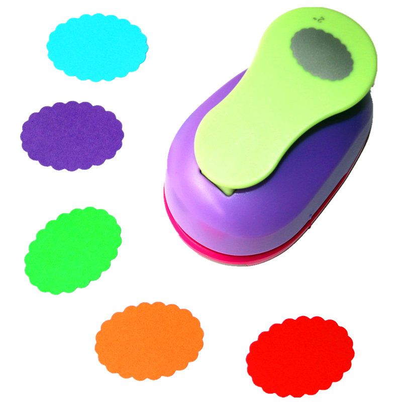 Free Ship Large 2'' 4.8cm Wave Oval Paper Puncher Scrapbooking Punches Craft Perfurador Diy Puncher Paper Circle Cutter3178B