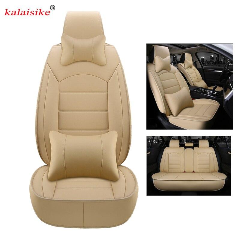 kalaisike leather universal car seat covers for Citroen all models c4 c5 c3 C6 Elysee Xsara