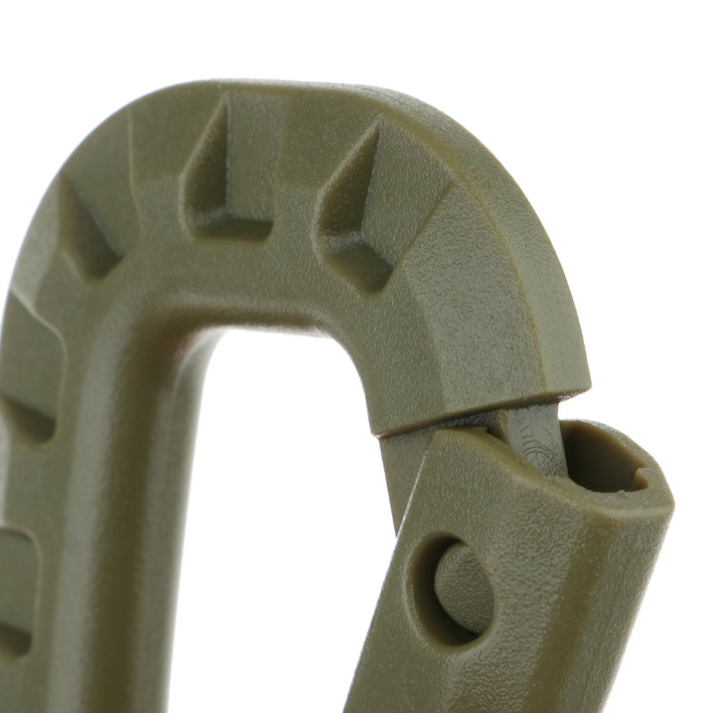 6Pcs Tactical D Shape Carabiner Keychain Carabina Karabiner Clip Plastic Cadet Hiking Camping Climbing Accessories