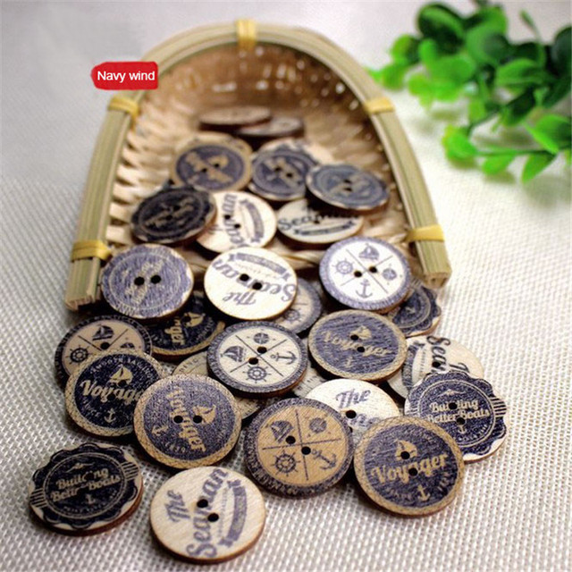 2016 new 2 hole Creative British style anchor button ...