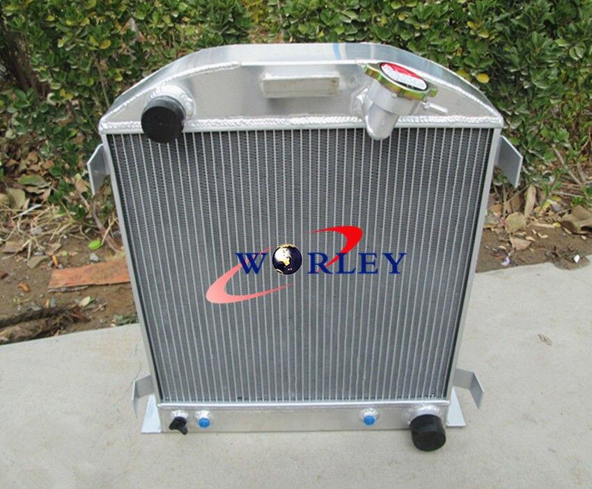 Aluminum Radiator for Chevy Panel Truck C10//C20//C3 63 64 65 66 Pontiac 61 62
