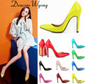 Free shipping star style candy color sexy 11cm classic heels, women's all-match sexy Concise party heels office lady pumps 34-42