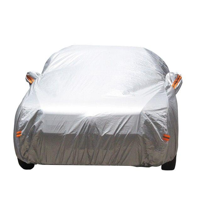 Completo Cubierta Del Coche Sol Anti UV Lluvia Nieve Resistente A Prueba de Polvo Cubierta Para VW Volkswagen Passat Touran Touareg Scirocco Sharan