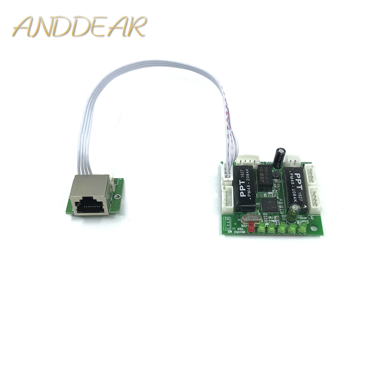 mini module design ethernet switch circuit board for ethernet switch module 10/100mbps 5/8 port PCBA board OEM Motherboard-in Network Switches from Computer & Office