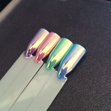 Poudre à ongles haut de gamme de Pigment néon pour Aurora, caméléon, sirène, Super effet miroir, licorne, Chrome, arc en ciel, poussière pour Nail Art, bricolage, 0.5g