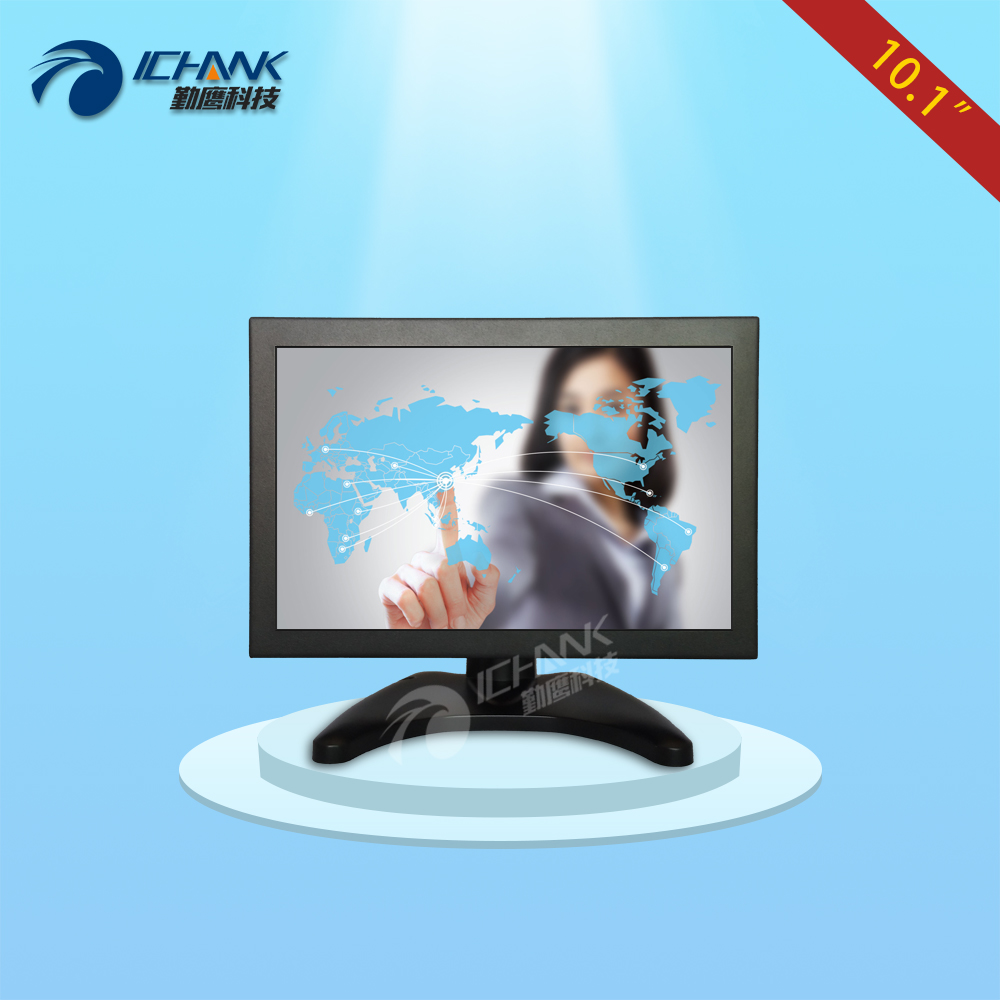 B101TC-V59D/10.1 inch 1280x800 IPS full view HDMI VGA metal case high sensitivity ten point capacitive touch monitor LCD screen