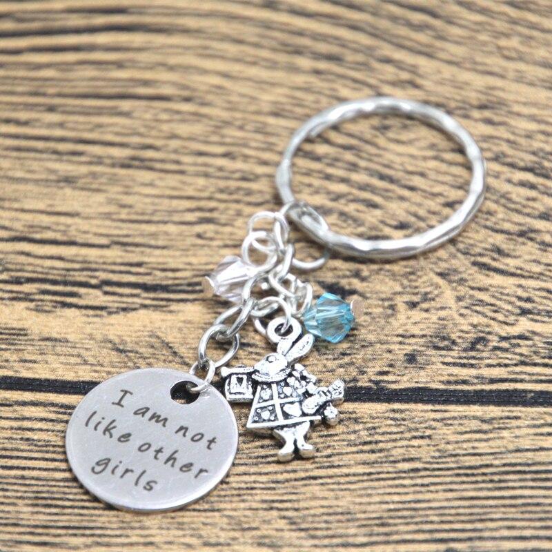 12 шт./лот Алиса в стране чудес вдохновила браслет я не как другие девушки серебристого цвета браслеты