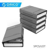 ORICO 3,5 дюймов Hdd корпус Переносной жесткий диск коробка Внешний Sata на жесткий диск с водонепроницаемой противоударной функцией 5 шт./лот серы...
