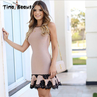 New Sexy Backless Nude Designer Rayon Bandage Dress 2019 Women Sexy Lace Charming Trumpet Celebrity Party Mermaid Dress