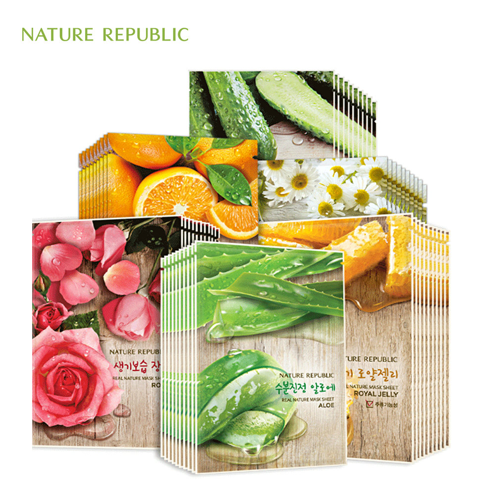 EXO Nature Republic Korean Sheet Mask Moisturizing Oil Control Natural Essence Whitening Facial Mask Plant Skin Face Mask