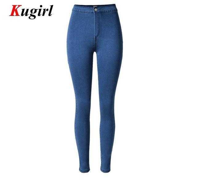 New 2017 Arrival Jeans Woman Denim Pencil Pants Brand Stretch Jeans High Waist Pants Women High Waist Jeans Plus Size