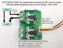 Aoweziic ACS770KCB-150B ACS770KCB ACS770 Two independent channels AC/ DC current detection module Rang:-150A-150A