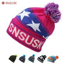 Winter Cap Woolen-Caps Beanies Snowboard-Caps Men Hats Gorros-De-Lana Warm SN.SU.SK