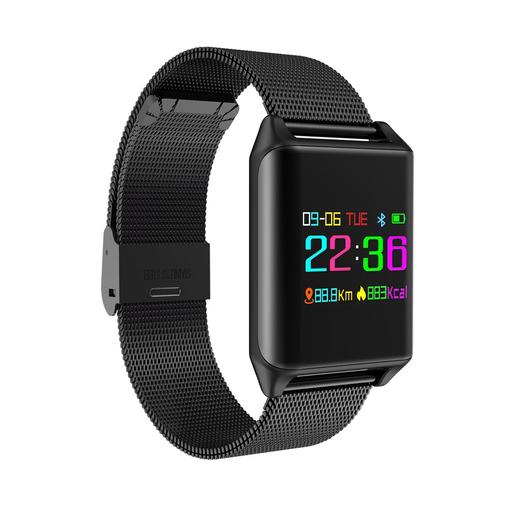 Steel Band M7 Smart Watch Blood Oxygen Pressure Heart Rate Monitor Pedometer Smartwatch Wristband 2018 Sales medical oxygen regulator pressure flowmeters hot sales page 5
