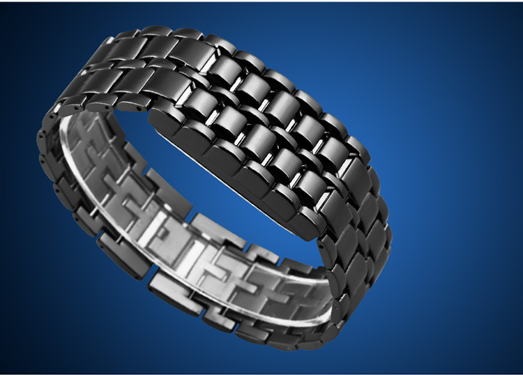 Aidis youth sports watches waterproof electronic second generation binary LED digital men's watch alloy wrist strap watch 35