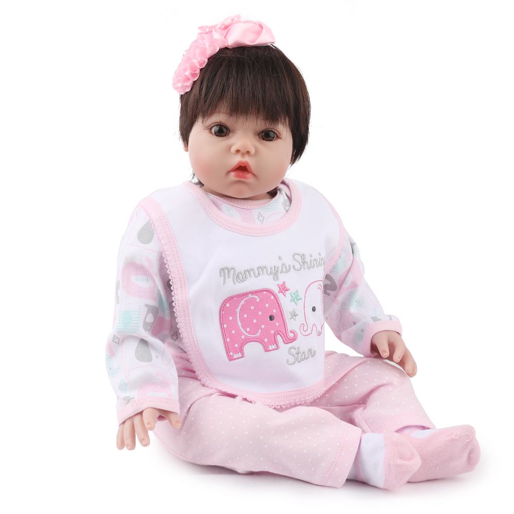 NPKDOLL Reborn Baby Doll 22 inch Girl Princess Lifelike Newborn Infant Realistic Doll accessories pink 0-3 momth baby clothes american girl doll clothes 4 styles elsa blue lace princess dress doll clothes for 16 18 inch dolls baby doll accessories x 2