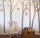 Birch Floresta Da Árvore de Adesivos de Parede Sala de estar Decalques de Parede Removível Árvore Adesivo de Parede Do Berçário Do Bebê Decoração Da Parede do Vinil Adesivo 716 T - 2
