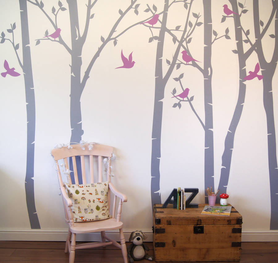 Birch Tree Wall Sticker Living Room Forest Wall Decals Removable Tree Sticker  Vinyl Wall Decor Baby Nursery Wall Sticker 716T In Wall Stickers From Home  ...