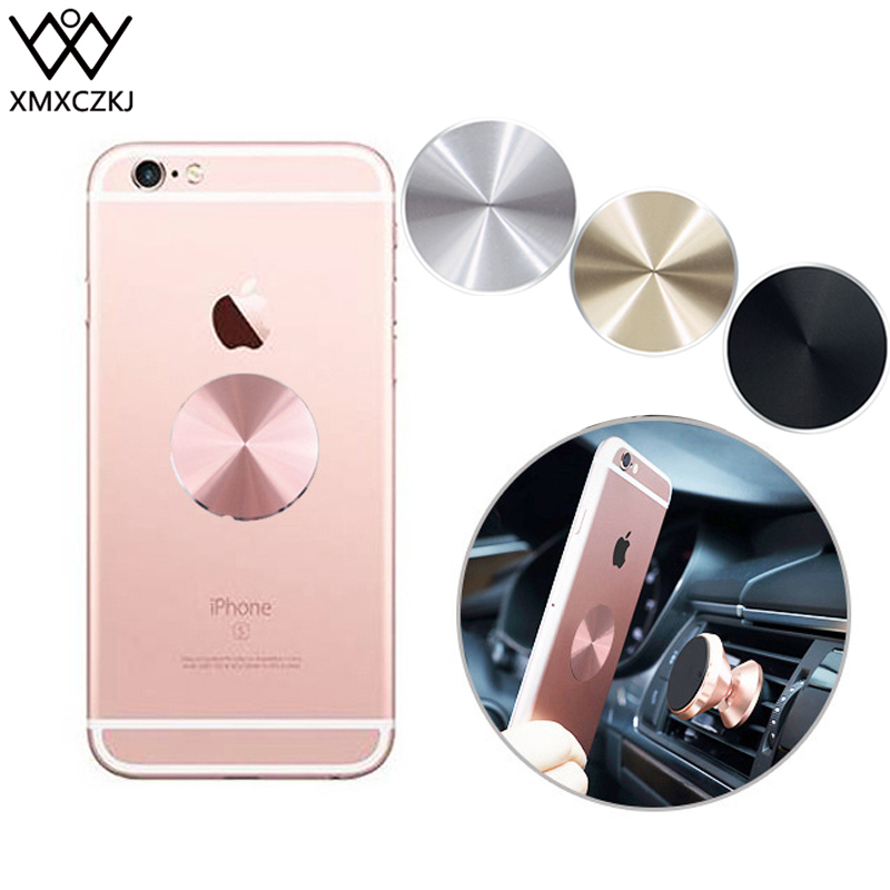 XMXCZKJ Metal Plates Magnetic Car Mount Replacement Kits With 3M Adhensive Mobile Phone Magnet Holder Accessories Metal Plate