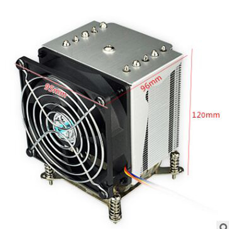 R5 50 CPU cooler 9cm fan 5 heatpipe Fans Heatsink Radiator for intel LGA1155/1156-in Fans & Cooling from Computer & Office