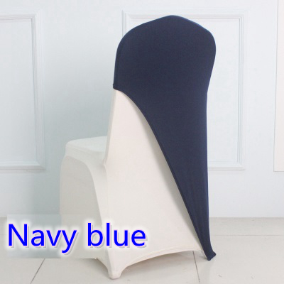 Navy Blue Colour Lycra Chair Covers Caps Universal For Wedding