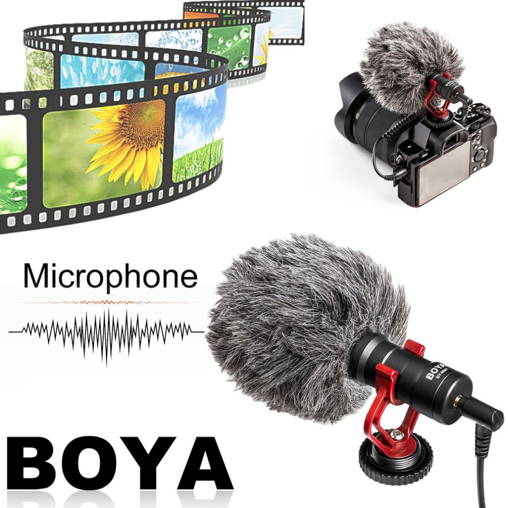 BOYA Compact On Camera Video Microphone Universal Interview Recording Mic For IOS For Android Smartphone For DSLR Cameras