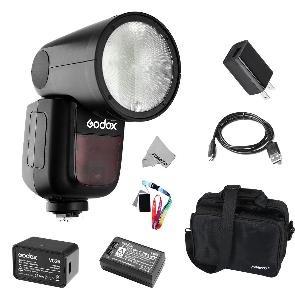 Fomito Godox V1 Flashpoint Zoom Li on X R2 2 4G TTL On Camera Round Flash