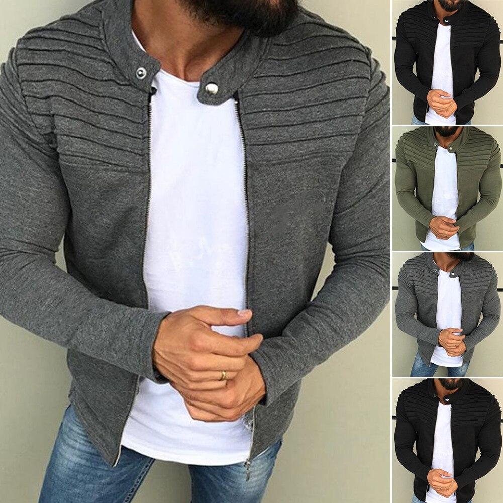 Autumn Winter Men Fleece Jacket Coat Male Winter Velvet Zipper Coat Long Sleeve Outwear Plus Size Women Stripe Casual Clothes