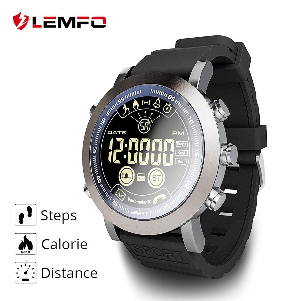 LEMFO LF23 insignia Smartwatch resistente 33-Mes de tiempo de espera de 24 h-tiempo Monitor impermeable IP68 reloj inteligente para IOS Android