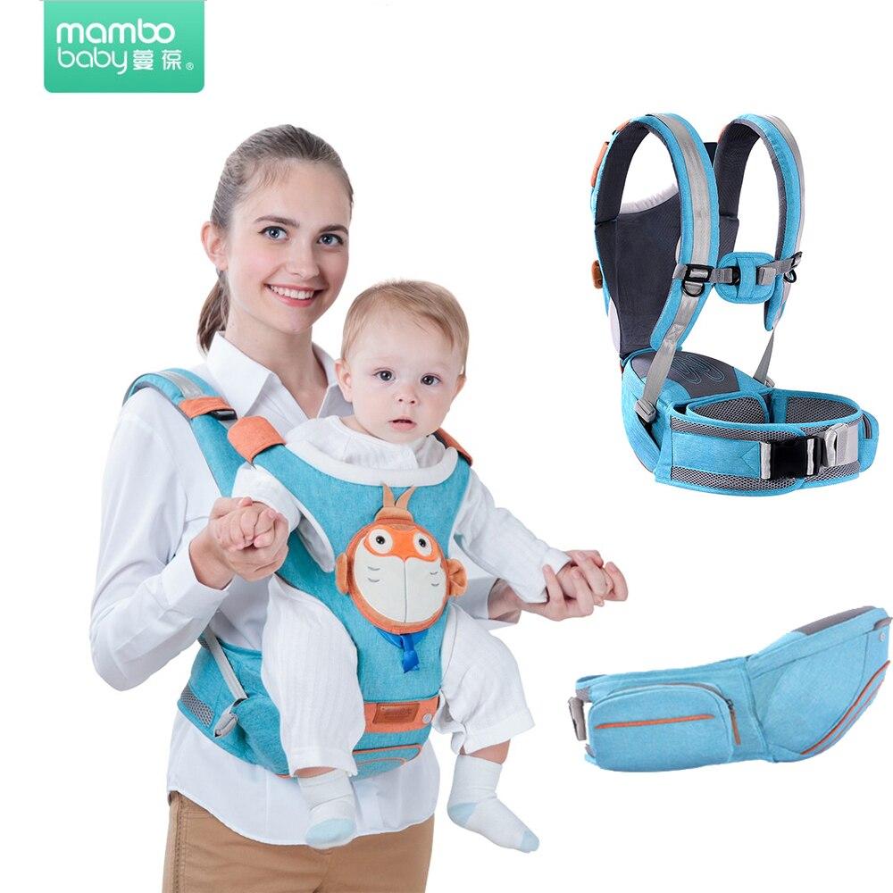 Mambo porte-bébé écharpe respirante pour nouveau-né kangourou pour enfants Hipseat avant porter Hipsit couleur unie attache kangourou pour bébé