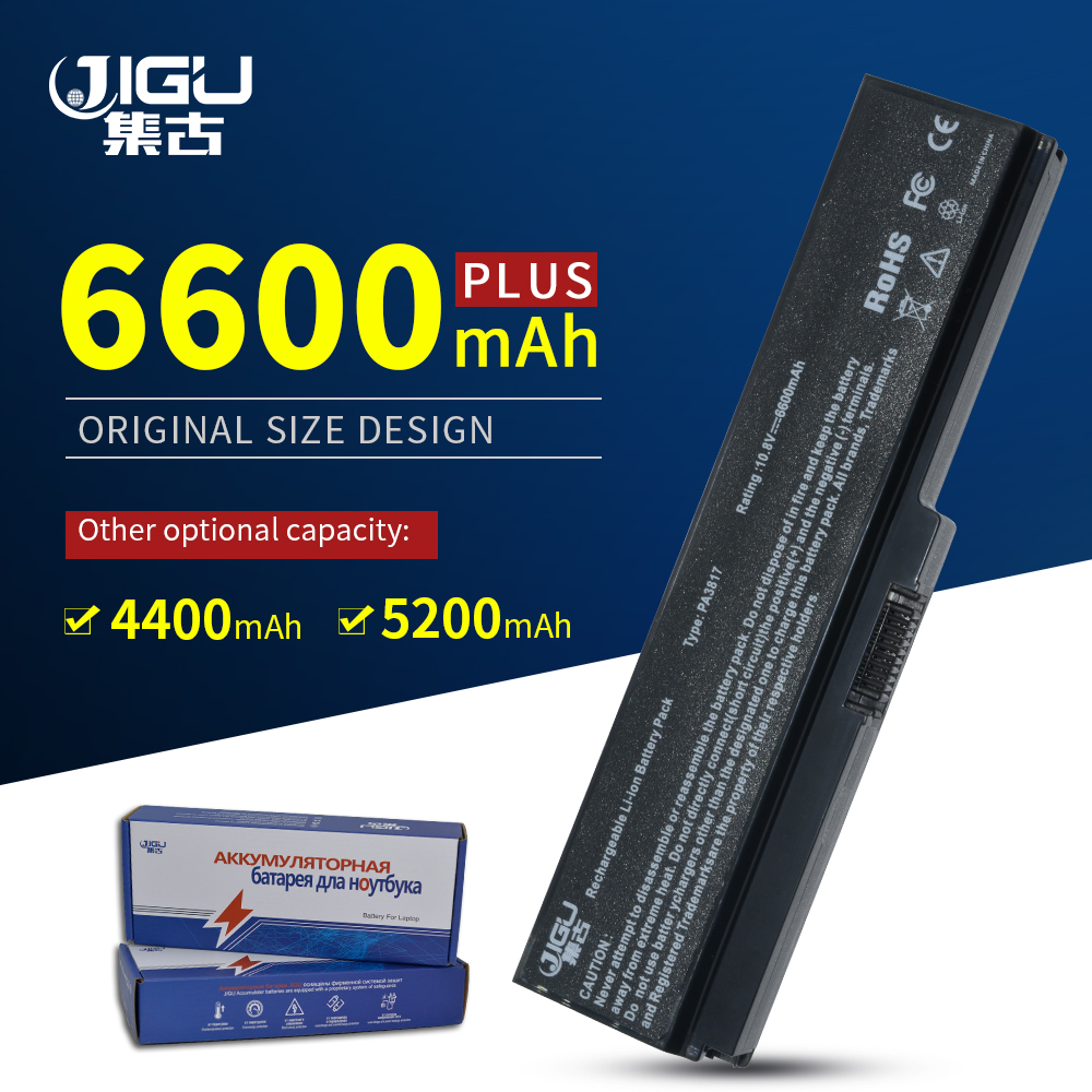 JIGU 6 Cells PA3817U-1BAS PA3817U-1BRS Laptop Battery For Toshiba