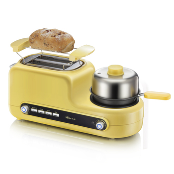 220V Non-stick Electric MultiFunctional Breakfast Toaster Machine Automatic Bread Toaster Fried Egg Steamed Egg EU/AU/UK/US Plug