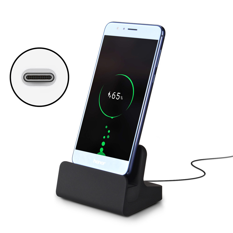 Qosea USB 3.1 Type-C Dock Chargeur Station Titulaire Type-C Charging Cradle pour Oneplus T2 Huawei P10 PLUS 6 P Zuk Z2 Sony Xperia XZ