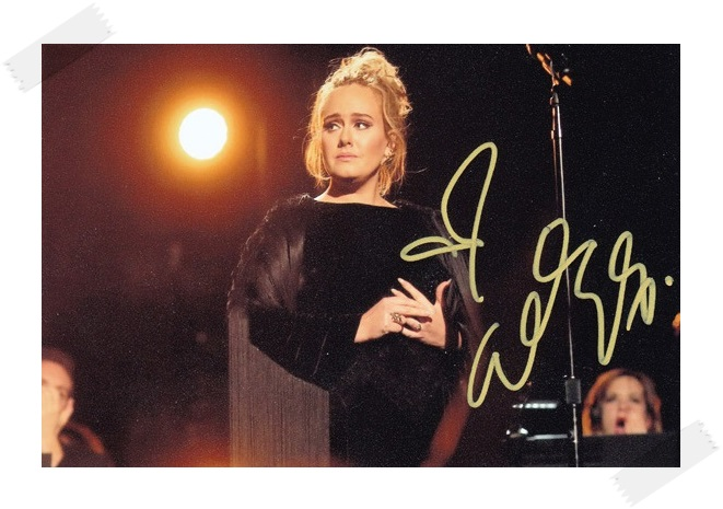 Adele autographed signed photo picture 4*6 inches collection freeshipping 02.2017