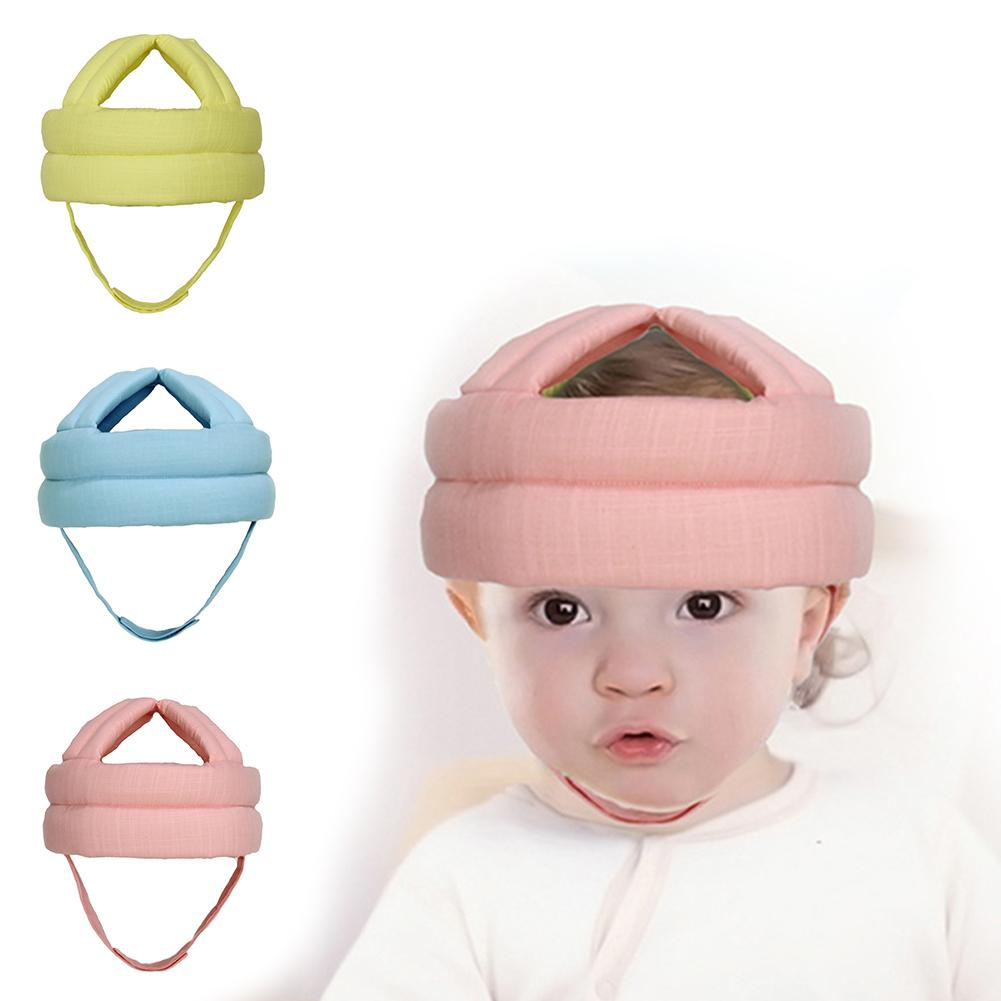 Baby Linen Fabric Protective Hat Baby Toddler Head Protective Cap Safety Learn to Walk Cap Helmet Children Anti Collision Hat