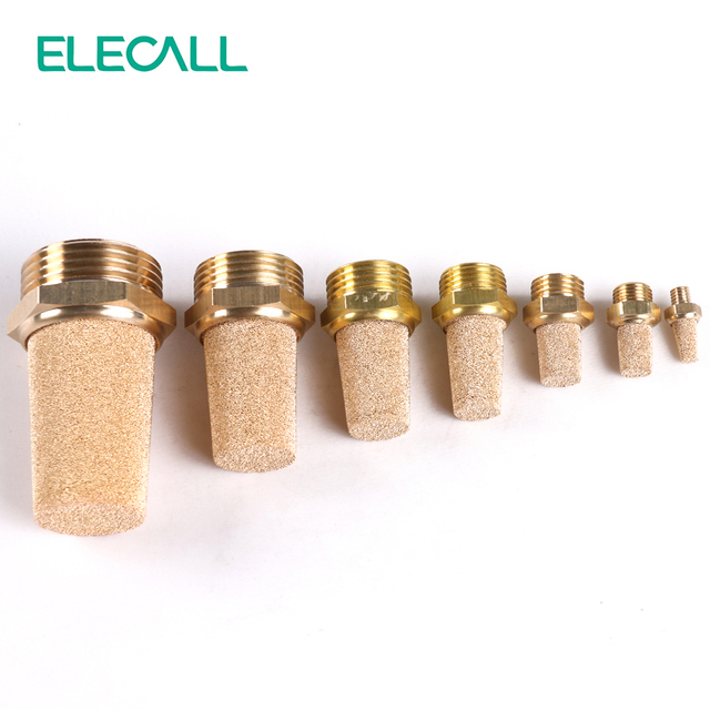Different Types For Pneumatic Brass Exhaust Dissipative Muffler Silencer Fitting Noise Filter Reducer Connector Silencing Pot