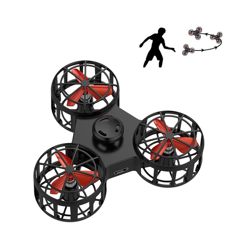 Flying Spinner Toy Spinner Darts Mini Rechargeable Automatic Rotatable Low-Speed Flying Fidget Spiner Toys Pressure Reliever Toy